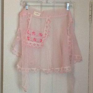 Vintage pink apron